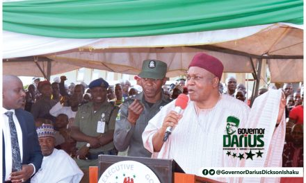 TARABA: IT'S A NEW DAWN, FOCUS ON THE POSSIBILITIES AHEAD OF US WITH DDI, BY MSHELIA.